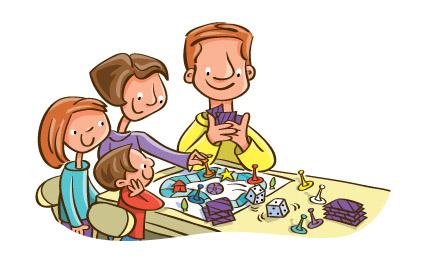 Familjedag med brädspel och sällskapsspel